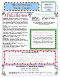 Teaching On Pinterest Newsletter Templates Teacher Binder And Preschool Newsletter Templates Special Education Newsletter Template