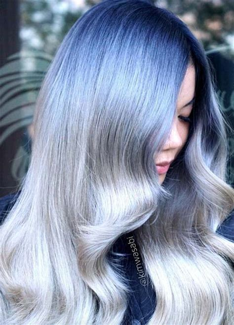 black hair with gray blue hair colors ideas dark blue silver hair www pixshark com images