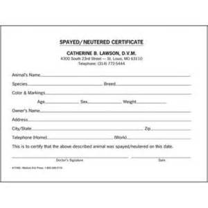 veterinary health certificate template printable pet health record forms breeds picture