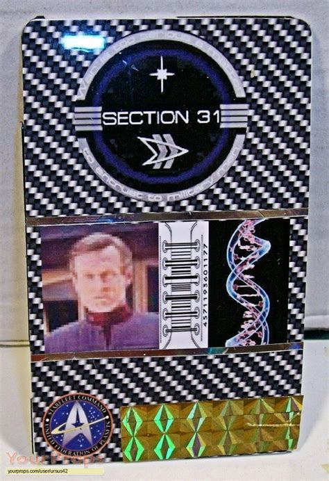 ds9 section 31 star trek deep space nine section 31 id made from scratch
