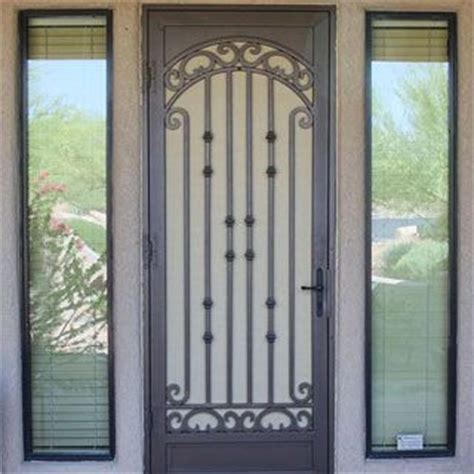 impressions wrought iron screen doors with glass