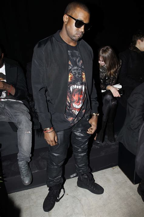Kanye And Rock The Givenchy Show by Kanye West At The Fall 2012 Givenchy Runway Show Beyonc 233