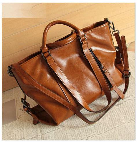 Tas Doctor F Rla Tas Fashion Wanita leather bag retro brown leather tote bag shopper