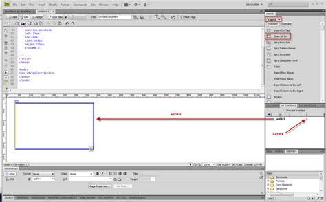 dreamweaver cs5 tutorial open browser window behavior creating and using ap divs in dreamweaver cs5 webucator blog