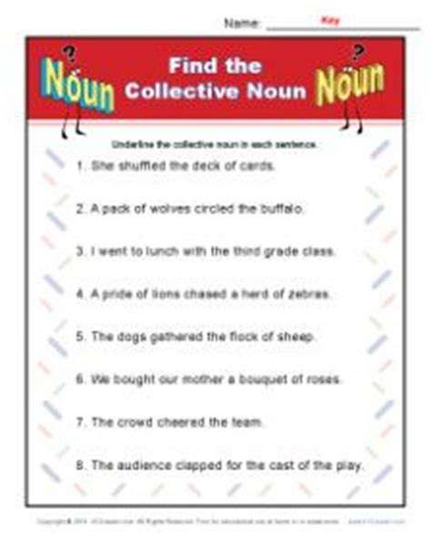 Collective Nouns Worksheets For Grade 6 by Worksheets Collective Nouns Grade 3 Englishlinx Nouns