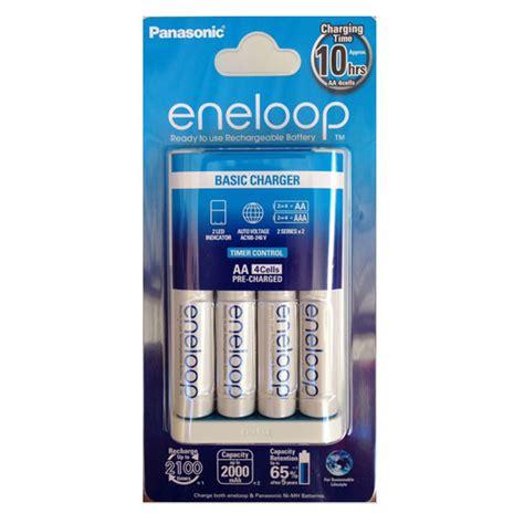 Panasonic Eneloop Aaa Isi 4 jual panasonic eneloop basic charger 4 baterai aa