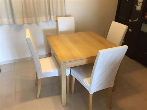 ikea extendable dining table chairs good singapore