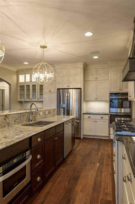 charming White Kitchens With Wood Floors #1: b2ee8a4215b3e7d3ffdc0bee06135e19--aristokraft-cabinets-kitchen-sale.jpg