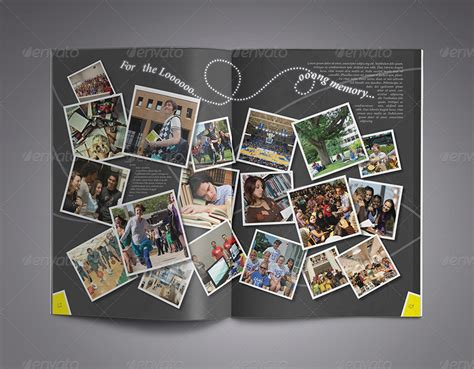 download yearbook layout modern yearbook template by zheksha graphicriver