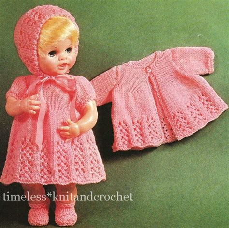 pattern clothes baby vintage knitting pattern baby doll clothes hat dress