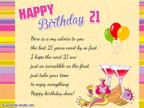 Happy 21 Birthday Quotes 21st Birthday Wishes Messages And 21st Birthday Card