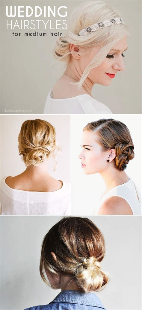 Wedding Hairstyles For Medium Length Hair To The Side by Stunning Wedding Hairstyles For Medium Length Hair More