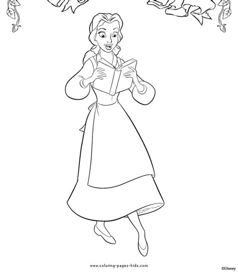 free coloring pages of bella the beast
