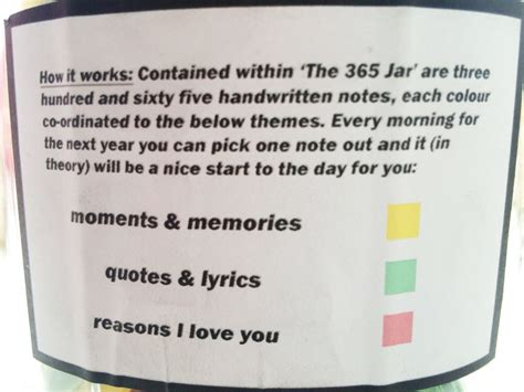 Gift To Husband 365 Days Of by Friendship Quotes In A Jar Quotesgram