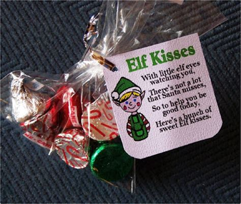free printable elf kisses tags be true crafts stocking stuffer ideas how sweet it is