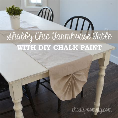 craftastical share a craft my kitchen table a shabby chic farmhouse table with diy chalk paint the