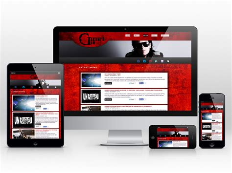 responsive layout zoom responsive website design for a rock band digital lion