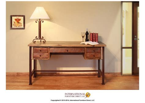 Antique Home Office Furniture Desk By International Furniture Direct Furniture Mall Of Kansas