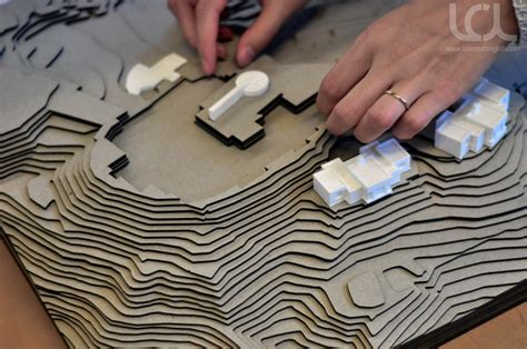 cnc laser cut architectural terrain models laser cutting