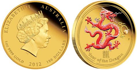 colored coins 2012 year of the gold proof colored coins available
