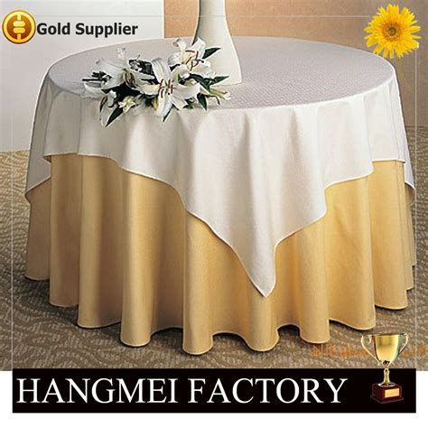 ployester wedding banquet table cover for sale