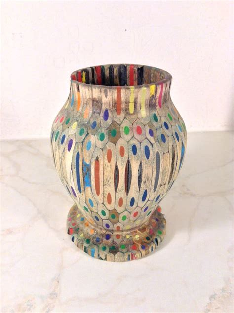 colored pencil vase pin by michael phillips on woodturning by michael phillips