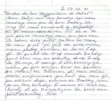 thank you letter to god mesi thank you real for haiti