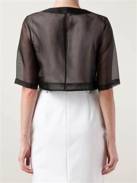 Organza Jacket organza jacket in black lyst