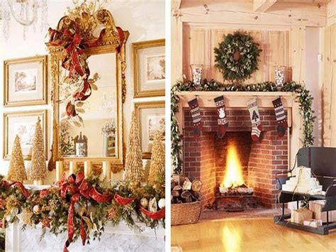 decoration easy christmas fireplace decorating ideas how