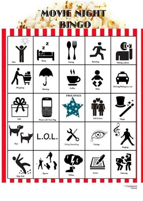 printable bingo tickets family movie night idea movie night bingo with printable