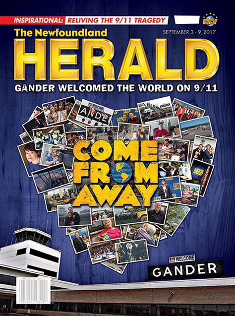 channel of peace stranded in gander on 9 11 books issue 36 september 3 september 9 newfoundland herald