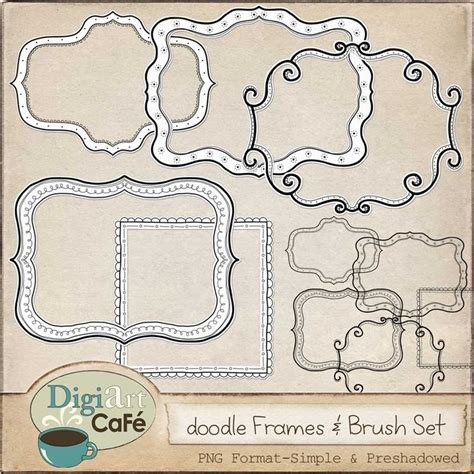 free doodle labels free doodle frames from digiart cafe fonts borders and