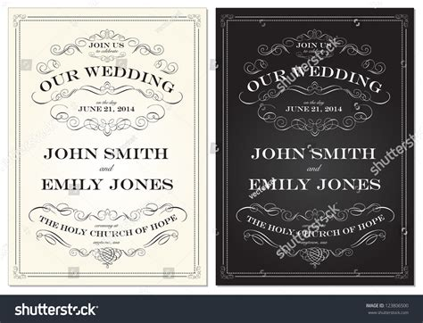 time frame for mailing out wedding invitations vector fashioned wedding frame set easy to edit