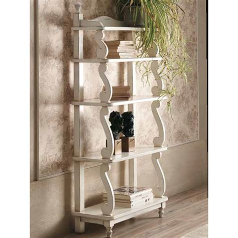 etagere shabby chic etag 232 re shabby in legno colore bianco cm 70x30x148h