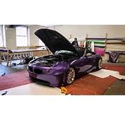 BMW Z4 Oracal Violet Metallic Wrap  YouTube