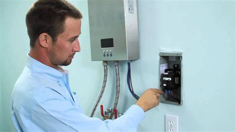 installation  electric tankless water heater eco