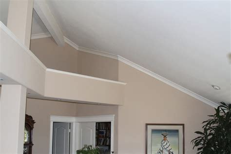 crown molding for vaulted ceiling vaulted ceiling ledge decorating bedroom contemporary with