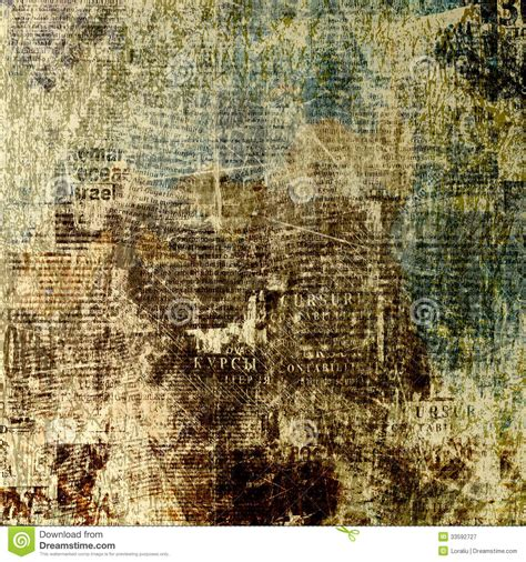 Grunge Abstract Newspaper Background For Design Royalty