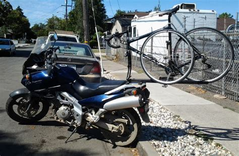 Racks For Motorcycles by A Motorcycle Bike Rack Shallow Thoughts