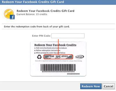 Gift Cards Facebook Credits - free facebook gift cards facebook credit gift cards