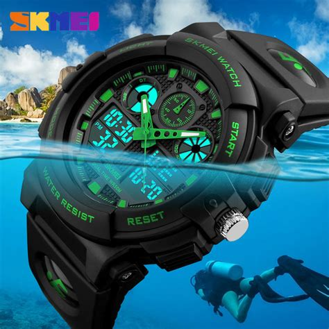 Jam Tangan Digital Pria Skmei Waterproof Anti Air 1206 Pink skmei jam tangan analog digital pria ad1270 black gold jakartanotebook