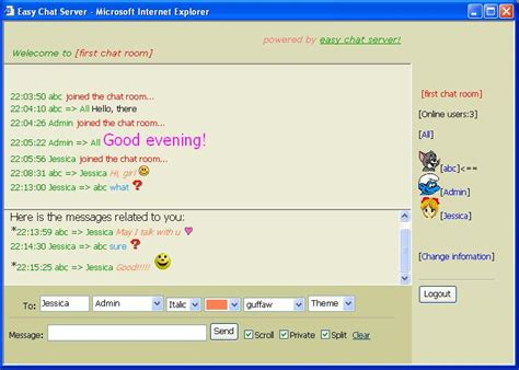 chat room chatting