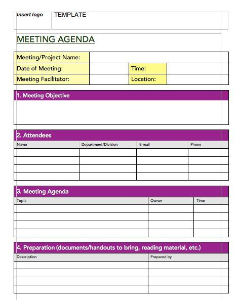 20 handy meeting minutes notes templates free template