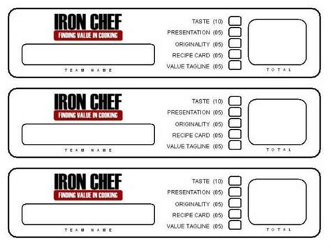 Resource Iron Chef Activity Young Women Pinterest To Be Night And Cooking Chef Template Resource