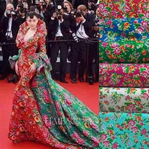 flower pattern dress fabric aliexpress com buy movie party long wedding dress fabric