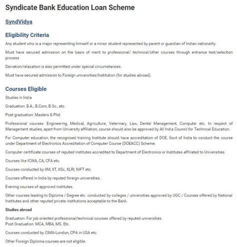 syndicate bank housing loan interest rate syndicate bank education loan application form page 2 2018 2019 studychacha
