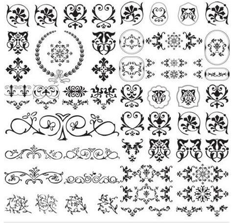 designs for ornaments design floral ornaments vector ai format free vector