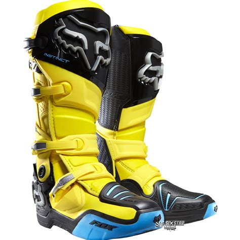 fox instinct motocross boots fox racing instinct yellow motocross boots bottes moto