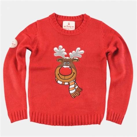 waitrose child christmas jumper sweater rudolph the reindeer sweater