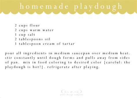 printable playdough recipes how to make playdough jones design company